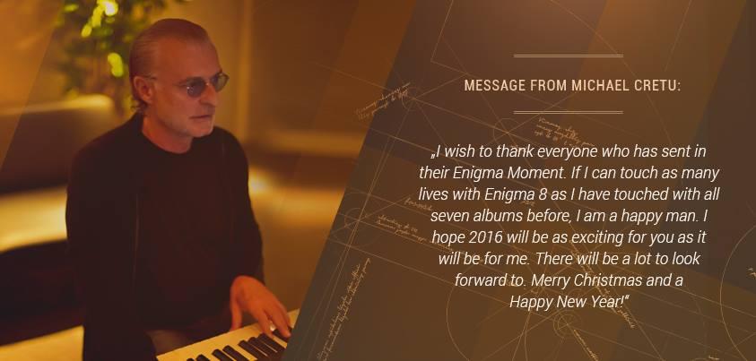 Michael Cretu trabajando en Enigma 8.